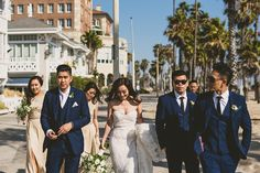 Make Santa Monica Beach your #wedding aisle, like this couple's celebration at @shuttersca. Talk about wedding goals. #scenic #venues #romantic