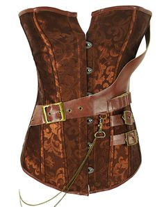 Steampunk Corset Bustier     Tag a friend who would love this!     FAST, FREE Shipping Worldwide     Buy one here---> https://intimatesecrets.de/2017-new-arrival-sexy-women-brown-brocade-belt-steampunk-overbust-corset-full-size-s-to-6xl/    #intimatesecrets #intimateapparel #lingerie