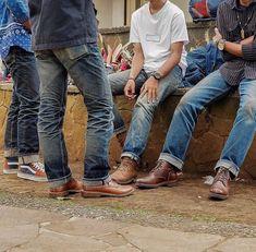 Denim Boots, Black Denim Jeans, Jeans And Boots, Raw Denim, Cuffed Jeans, Casual Jeans, Mens Boots Fashion, Denim Fashion, Fashion Pants