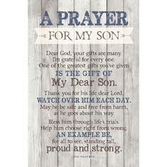 Dexsa Prayer For My Son New Horizons Wood Plaque with Easel    Overstock.com Shopping - The Best Deals on Wood Wall Art