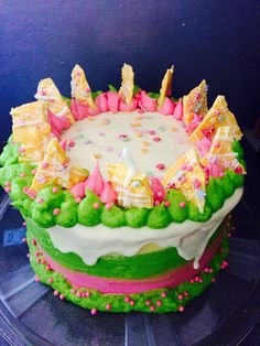 Funky fun buttercream birthday cake