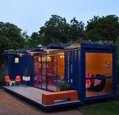 Shipping container home converted into guesthouse