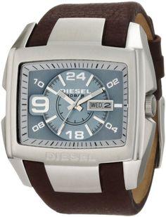 Diesel Men's Advanced Brown Watch « Impulse Clothes Fossil Watches, Cool Watches, Wrist Watches, New Look Fashion, Mens Fashion, Diesel Watches For Men, Best Watch Brands, Online Watch Store, Stainless Steel Watch