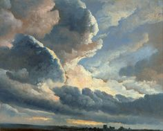 'Study of Clouds with a Sunset near Rome', oil painting on paper by Simon Alexandre-Clément Denis, Getty Museum - Simon Denis - Wikipedia Oil Painting On Paper, Painting & Drawing, Rome Painting, Street Painting, Acrylic Paintings, Jose Maria Velasco, Rome Art, Image Hd, Getty Museum