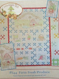 QUILTSY DESTASH PARTY Quilt Pattern  Farm Fresh Produce by backporchquilts on Etsy