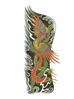 Phoenix Bird Tattoo Flash Designs. Top quality high resolution color design, with tattoo stencil outline for instant download. Get the body art you deserve. Many other designs. View at http://mickeymud.com/galleries/