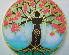 . MADE To Order* The Tree of Wisdom Mandala is to remind us that though we are rooted into this world our true wisdom comes from the heart and