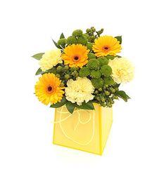 Yellow Gift Bag Bouquet - £29.99