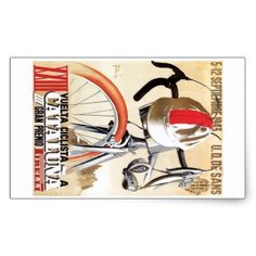 #1943 Spain Tour of Catalonia Bicycle Race Poster Rectangular Sticker - #cycling #gifts