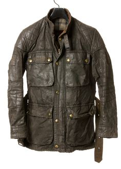 Belstaff Roadmaster Pro with premium patina Wax Jackets, Cool Jackets, Casual Jackets, Belstaff Jackets, Barbour Jacket, Motorbike Clothing, Leather Fashion, Mens Fashion, Waxed Cotton Jacket