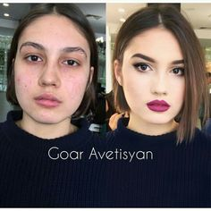 The Power of Make-up, 10 avant-après surprenants ! Contour Makeup, Contouring And Highlighting, Face Makeup, Ugly Makeup, Makeup Tips, Beauty Makeup, Makeup Before And After, Power Of Makeup, Magical Makeup