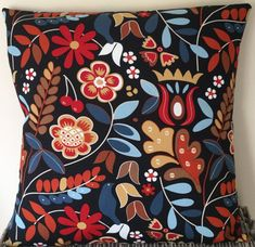 Black Scandinavian style handmade cushion in various sizes