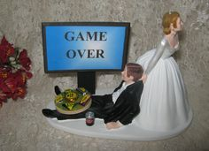 Wedding Cake Topper Funny Humorous Video Game by AREDNECKWEDDING4U, $39.99