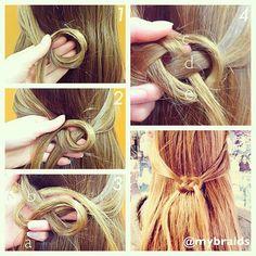 """coiffure """"noeud marin"""""""