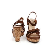 #SmittenKitten in #brown available at #INTOTO  #Wedges #brownwedges #heels #bows