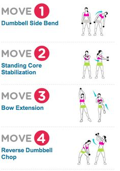 Standing abs exercises with weights Standing Ab Exercises, Standing Abs, Fitness Diet, Fitness Motivation, Health Fitness, Fitness Goals, Woman Fitness, Fitness Plan, Health Diet
