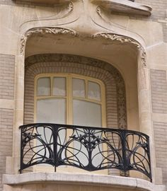 Balcony on a building designed by Hector Guimard, Paris