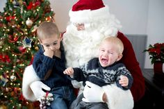To some kids, that jolly guy with rosy cheeks and the long beard is well, freaky! Check out some of the funniest scared-by-Santa Claus photos, submitted by moms (trust us: you'll want to send this one to a friend). Strangers When We Meet, Santa Claus Photos, Meet Santa, Santa's Little Helper, Long Beards, Mrs Claus, Four Year Old, Big Guys, Jingle All The Way