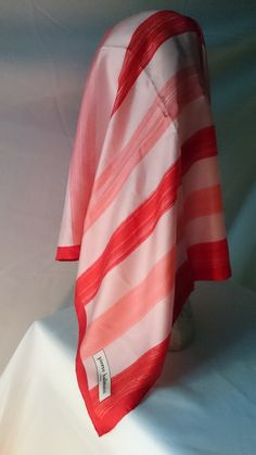 Pierre Balmain Pink and Red Silk Scarf by RiverwoodCottage on Etsy