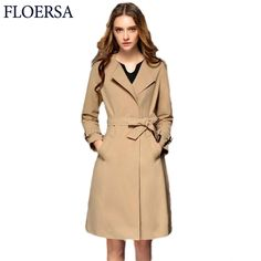 Autumn Winter High Quality Fashion Trench Coat For Women Casual Ladies Overcoat Slim Long Windbreaker With Belt Clothing#YC20435
