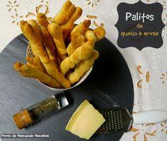 Ponto de Rebuçado Receitas: Palitos de queijo e ervas