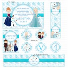 Kits Digitais Charme Papeteria - Frozen
