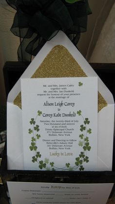 Lucky In Love Wedding Stationery Collection by Above & Beyond - Custom Events & Stationery - Invitation