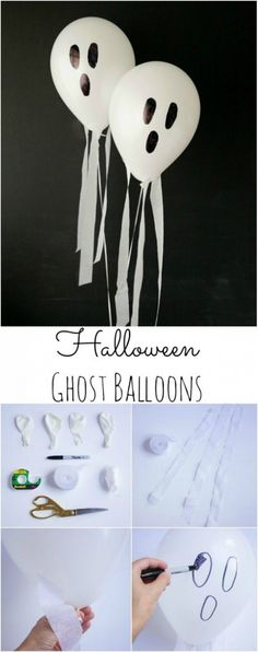 Easy to Make DIY Halloween Decorations (Halloween Manualidades Puertas) Dulceros Halloween, Bricolage Halloween, Halloween Balloons, Adornos Halloween, Manualidades Halloween, Halloween Disfraces, Halloween Birthday, Holidays Halloween, Diy Birthday