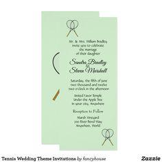Tennis Wedding Theme