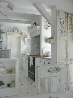 shabby chic kitchen cabinet - myshabbychicdecor...