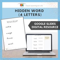 This digitally interactive resource is designed for use with Google Slides. This resource contains 40 slides in total. Answer sheets are included.The student must identify each hidden word, and drag the red circles to the correct answers.