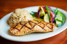 Grilled Salmon - Pier 61 Seafood & Grill by Michael Shum on Flickr.