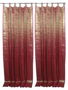 24 window silk sari curtains ideas
