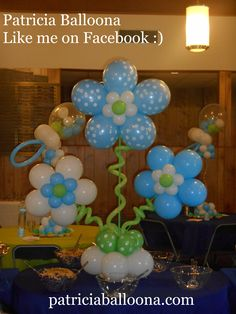 Kids Centerpieces, Balloon Decorations, Balloon Flowers, Like Facebook, Sofia The First, Birthdays, Info Board, Baby Shower, Center Pieces
