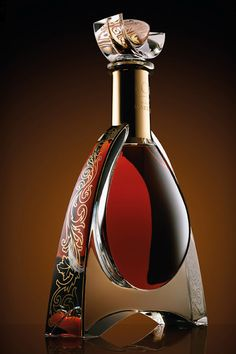 L'Or de Jean Martell Cognac. Oh my gosh what a gorgeous bottle! I don't care for cognac, but the bottle alone is worth buying.