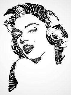 Known celebrities are converted to typographic portraits, created with his more famous phrases and lines. Conocidas celebridades son convertidas en retratos tipográficos, creados con sus más famosas frases y líneas.