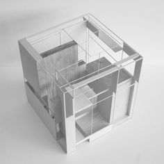 Architecture Student Design Research of spatial relations within the form Cubic Architecture, Layered Architecture, Concept Architecture, Sustainable Architecture, Interior Architecture, 3d Modelle, Cube Design, Design Design, Design Ideas