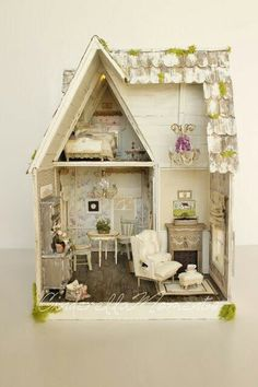 Cinderella Moments: The Sweet Life Custom Dollhouse Vitrine Miniature, Miniature Rooms, Miniature Houses, Diy Dollhouse, Dollhouse Furniture, Dollhouse Miniatures, Victorian Dollhouse, Modern Dollhouse, Cinderella Moments