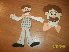 Mr. Noodle from Elmo set of 2 die cuts by cocacolabear1980 on Etsy