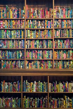 Artist Yinka Shonibare has covered books in his trademark African Dutch batik fabric in a new installation titled, The British Library. Using the work to delve into the theme of immigration,. British Library, Poetry Foundation, Diy Rangement, Creative Review, Fabric Journals, Home Libraries, Layout, Book Art, Culture