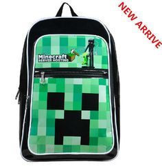 2014 New Arrival The Minecraft Backpack Game Creeper Boys Backpack School  Bag bolsas femininas mochila feminina Best Gifts d35190fc2def3