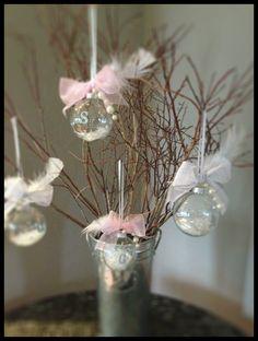 DIY Pretty personalized ornaments