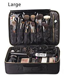 2e8d0327c719 Amazon.com  ROWNYEON Portable EVA Professional Makeup Case 16.14