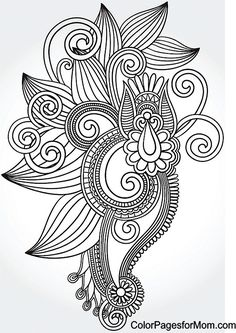 One of 60 paisley coloring pages -- LOTS more categories