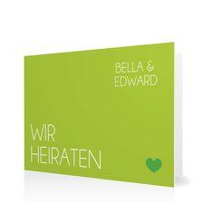 Hochzeitseinladung Klares Ja in Blattgruen - Klappkarte flach #Hochzeit #Hochzeitskarten #Einladung #Foto #modern #Typo https://www.goldbek.de/hochzeit/hochzeitskarten/einladung/hochzeitseinladung-klares-ja?color=blattgruen&design=5851f&utm_campaign=autoproducts