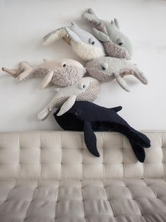 Small Mama Whale Plush - Home Decor Ideas Soft and cuddle friendly, our stuffed . Small Mama Whale Plush – Home Decor Ideas Soft and cuddle friendly, our stuffed animals fit right Whale Plush, Handmade Stuffed Animals, Pet Toys, Cuddling, Nursery Decor, Sewing Projects, Dinosaur Stuffed Animal, Kids Room, Cute Animals
