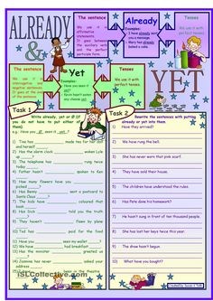 Already and yet - Present perfect *** with grammar & key & B&W
