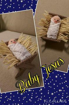 Amigurumi crochet Baby Jesus  Nativity Set #2