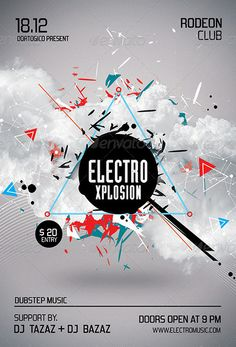 Electro Xplosion Futuristic Flyer and Poster Design Templates