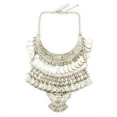 GypsyLovinLight: Goldbarr Abu Dhabi Necklace – Morocco Silver